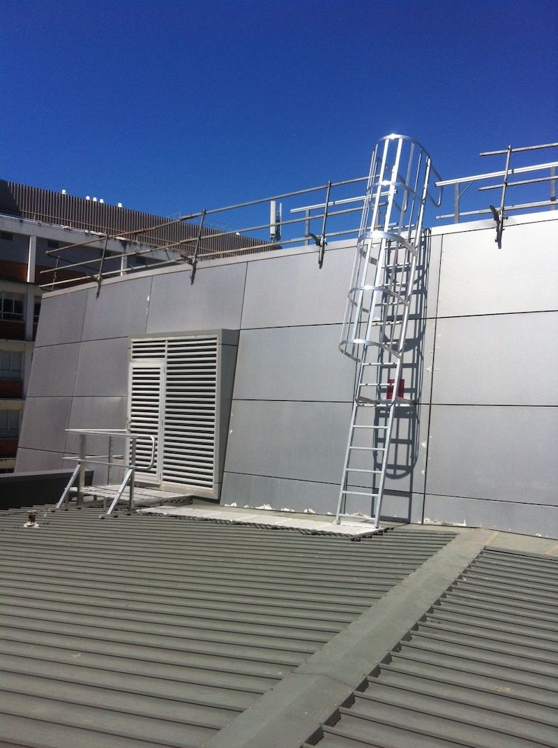 Roof Access Cage Ladders Safe At Heights Brisbane Queensland 02