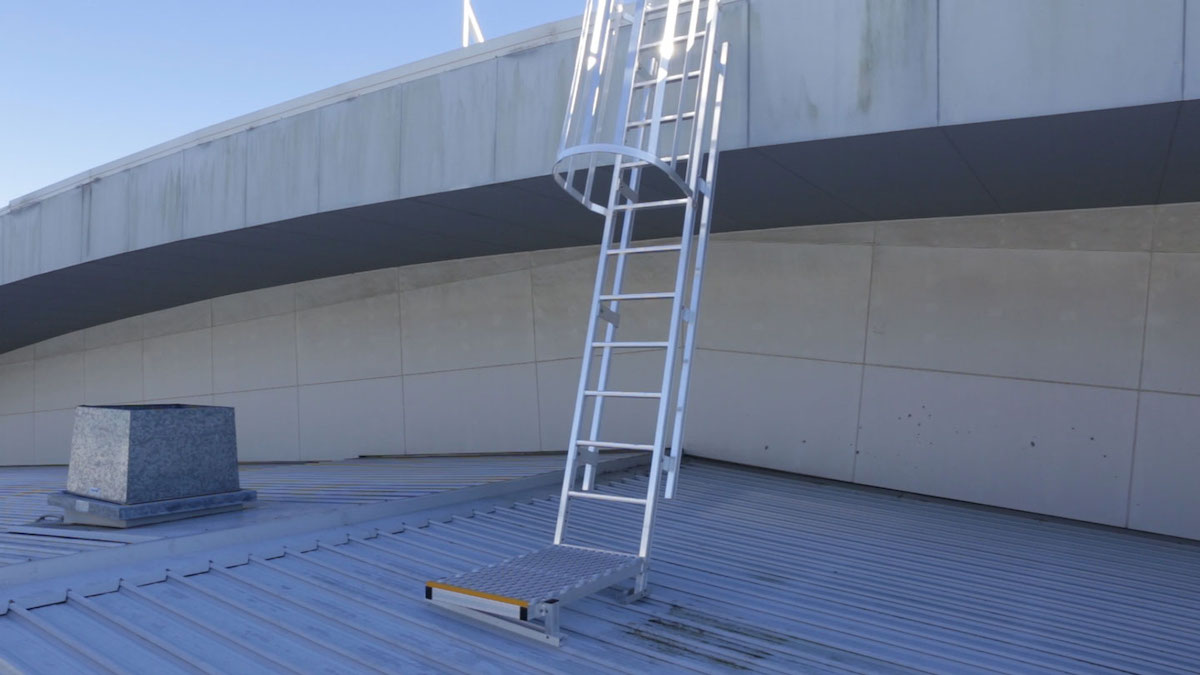 Cage Ladders Safe At Heights