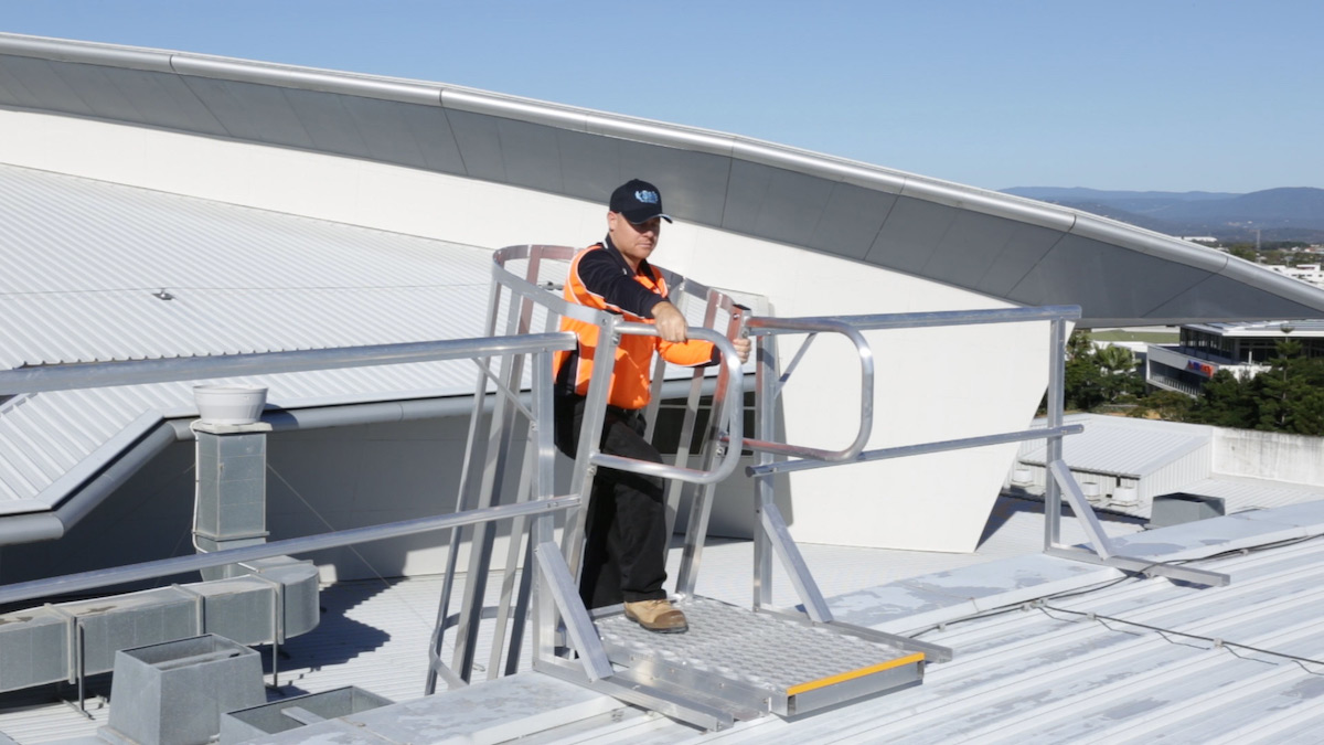 Roof Access Cage Ladders Safe At Heights Brisbane Queensland 07