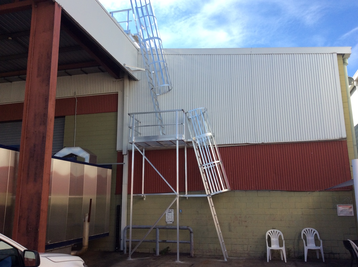 Roof Access Cage Ladders Safe At Heights Brisbane Queensland 08