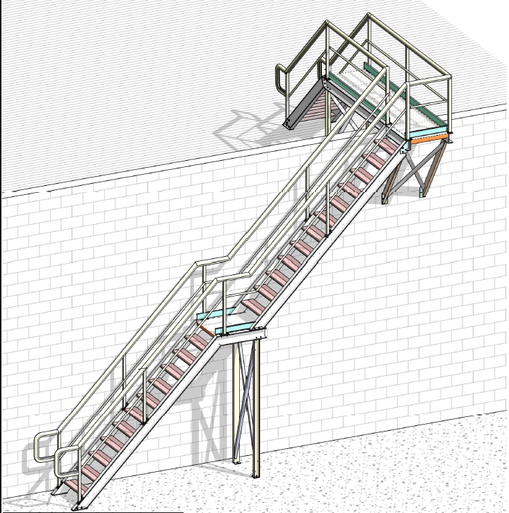 Roof Access Stairs Safe At Heights Queensland