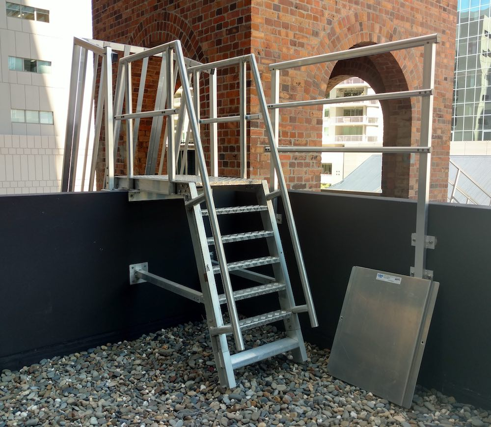 Roof Access Step Type Ladder Safe At Heights Brisbane Queensland HDR