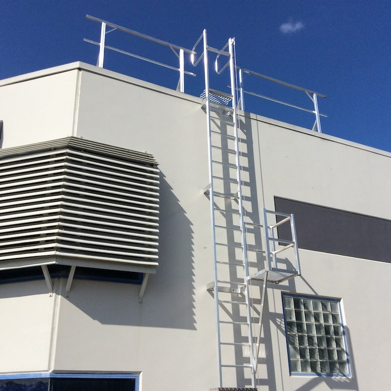 Roof Access Vertical Ladder Safe At Heights Brisbane Queensland 03
