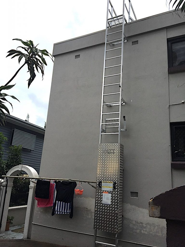 Roof Access Vertical Ladder Safe At Heights Brisbane Queensland 05