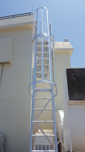 Roof Access Cage Ladders Safe At Heights Brisbane Queensland 1