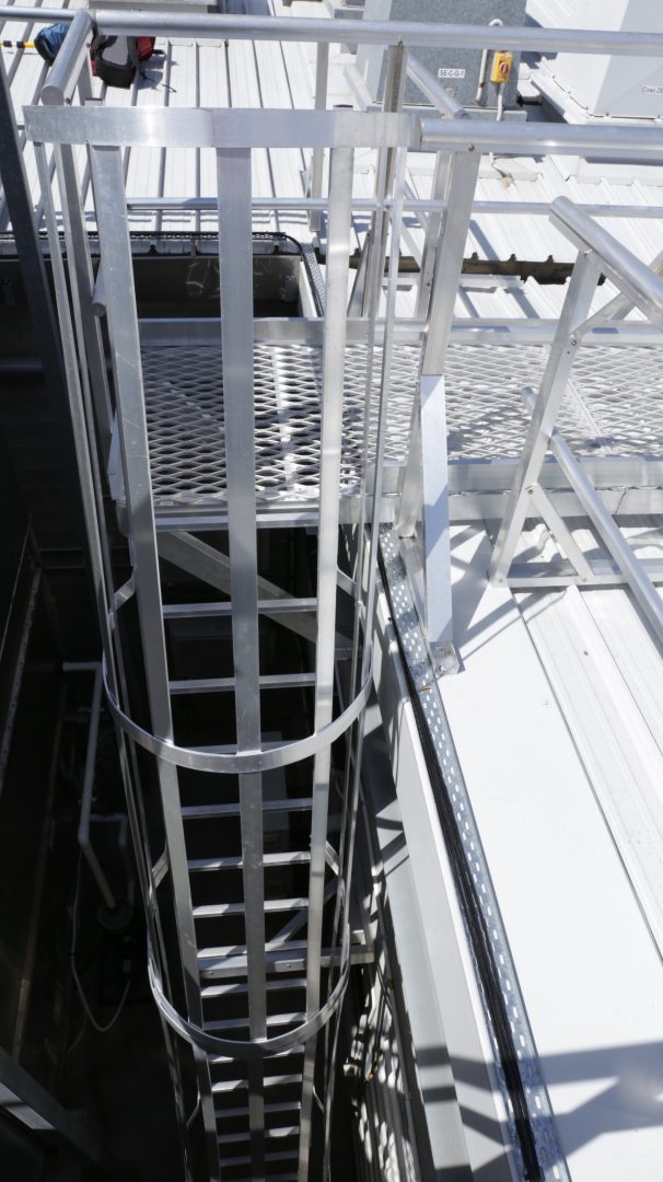 Roof Access Cage Ladders Safe At Heights Brisbane Queensland 3