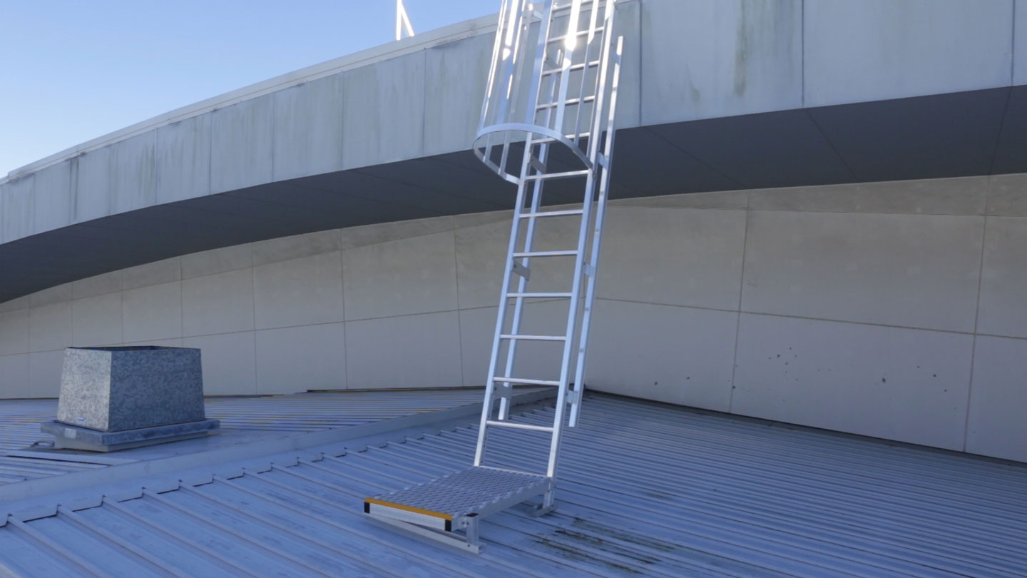 Roof Access Cage Ladders Safe At Heights Brisbane Queensland 4