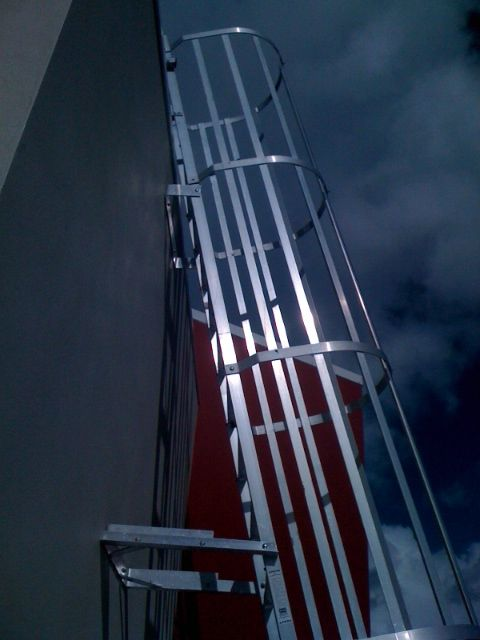 Roof Access Cage Ladders Safe At Heights Brisbane Queensland 6