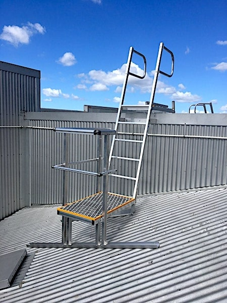 Angled Rung Ladders Safe At Heights Queensland