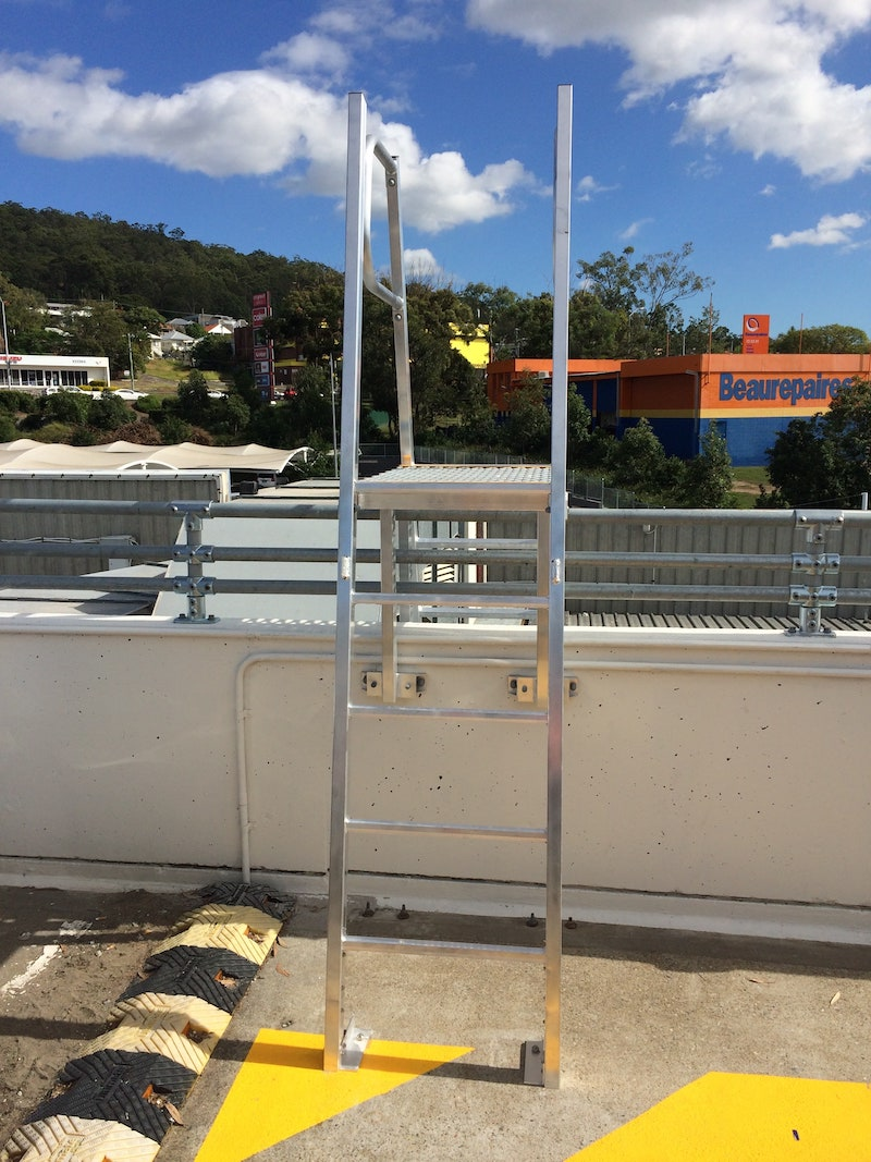 Safe At Heights Roof Access Ladders Angled Rung Ladders Brisbane Queensland 4