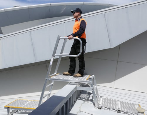 Safe At Heights Roof Access Ladders Angled Rung Ladders Brisbane Queensland 6