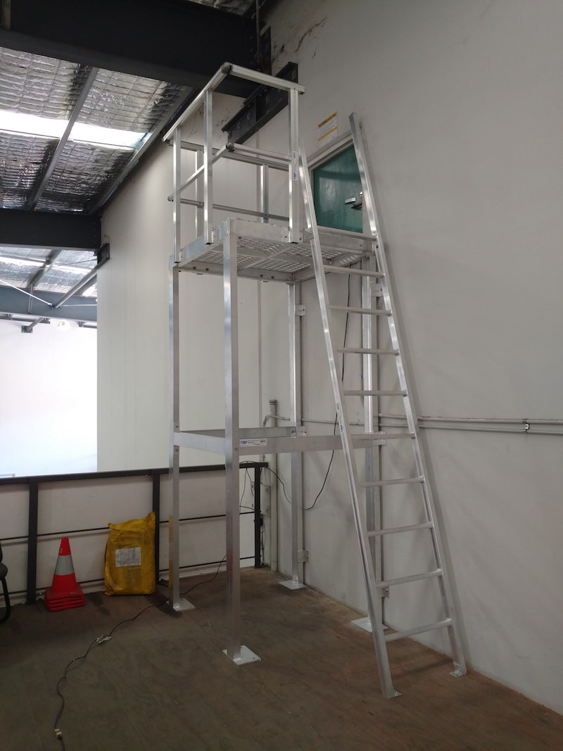 Safe At Heights Roof Access Ladders Angled Rung Ladders Brisbane Queensland 8