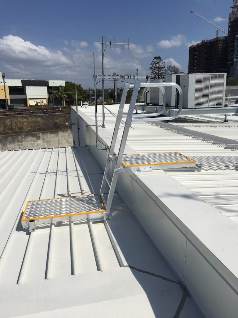 Safe At Heights Roof Access Ladders Angled Rung Ladders Brisbane Queensland 3