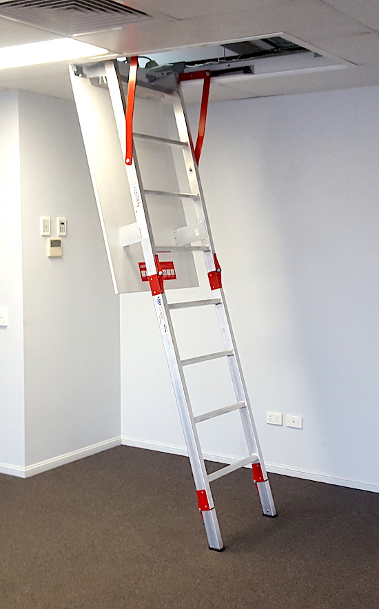 Fold Down Ladders Roof Access Hatch and Hatches Safe At Heights Brisbane Queensland