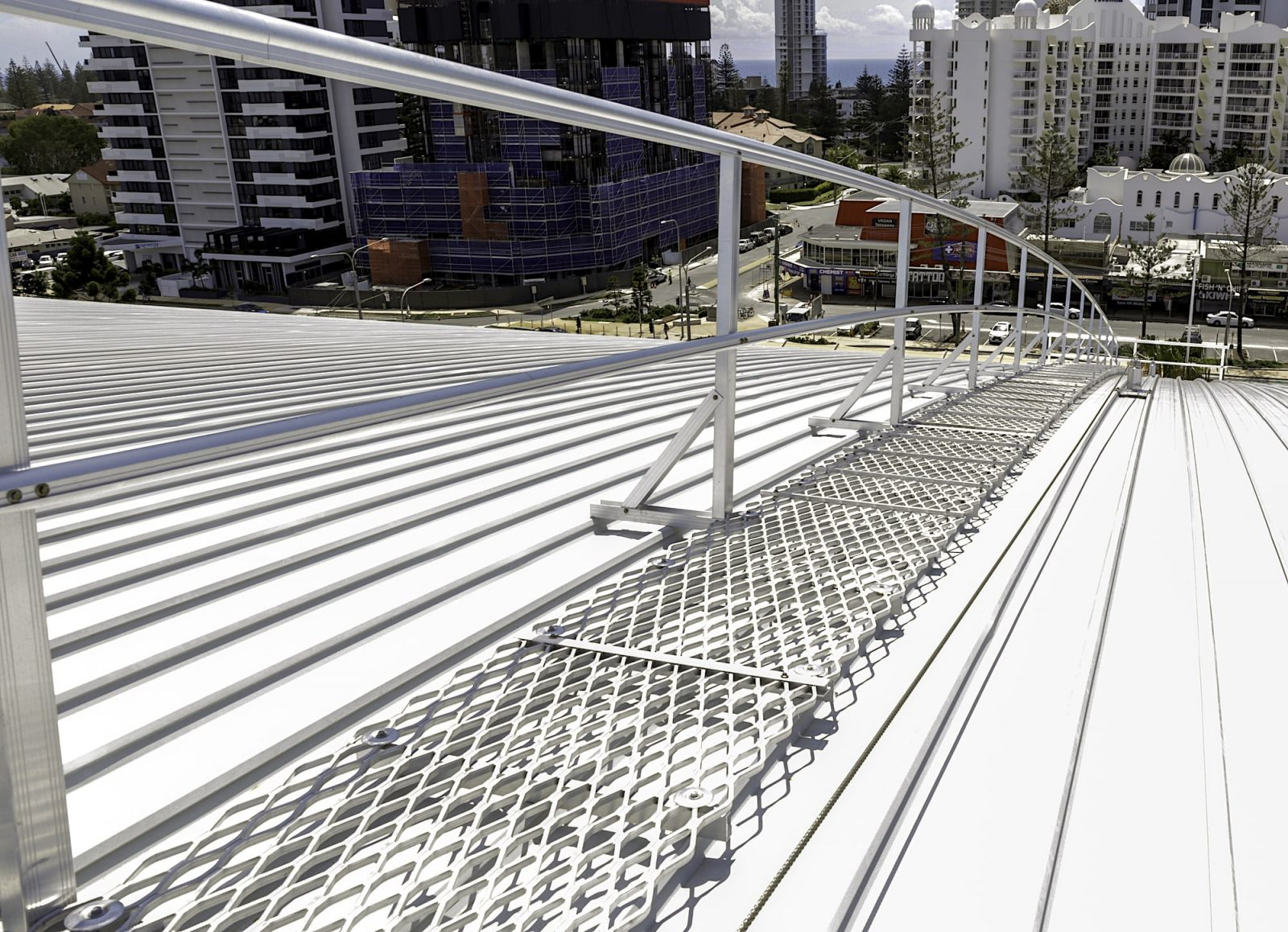 Guardrails Access Walkways Roof Platforms Safe At Heights Brisbane Queensland 1