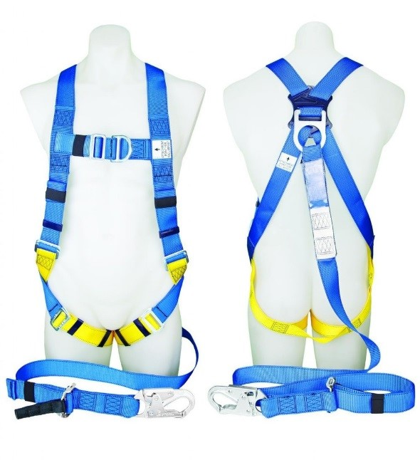 Protecta First Industrial Harness with Adjustable Lanyard