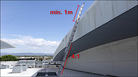 Roof Access Angled Rung Ladders Safe At Heights Brisbane Queensland 7