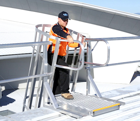 Roof Access Angled Rung Ladders Safe At Heights Brisbane Queensland