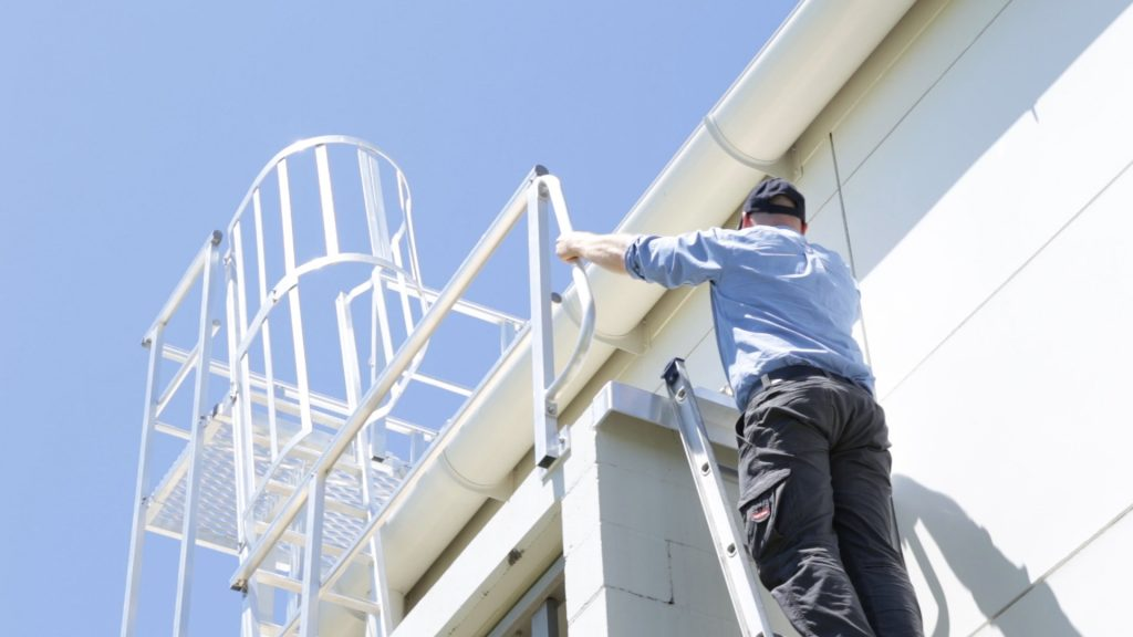 Roof Access Ladders Dock and Brackets Safe At Heights Brisbane Queensland 8