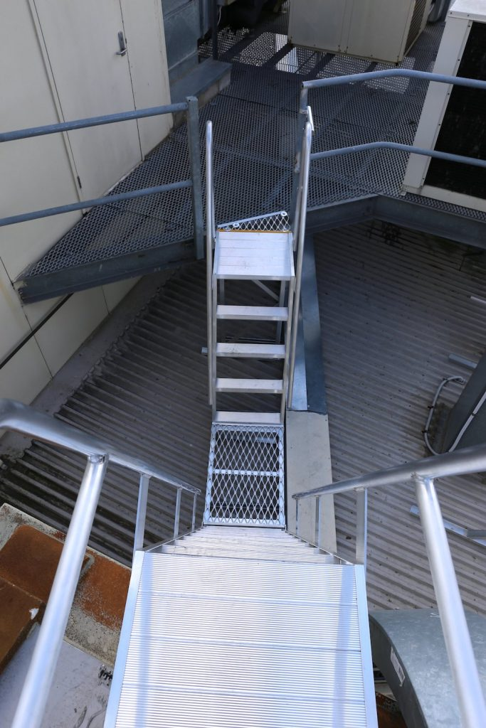 Roof Access Step Type Ladder Safe At Heights Brisbane Queensland Sml 2