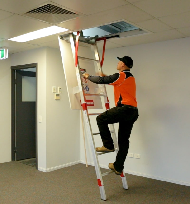 Fold Down Ladders Safe At Heights Queensland Vista Range BOX