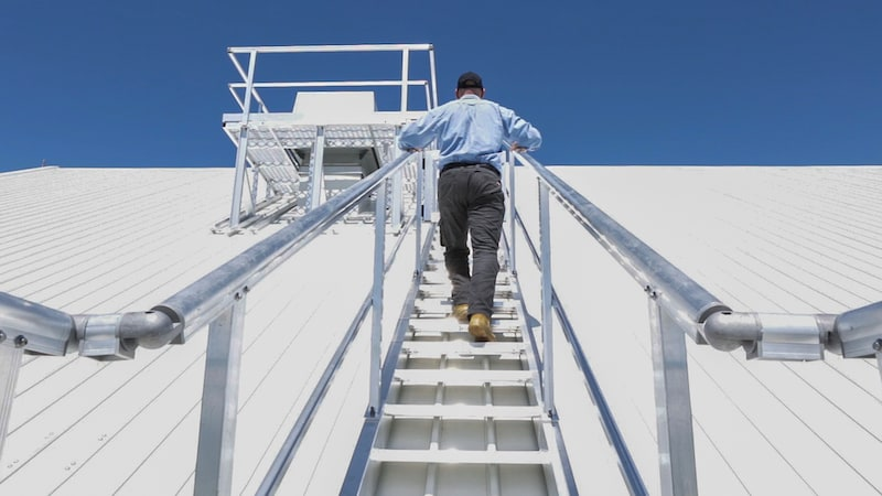 Roof Access Stairs Safe At Heights Queensland 26 1