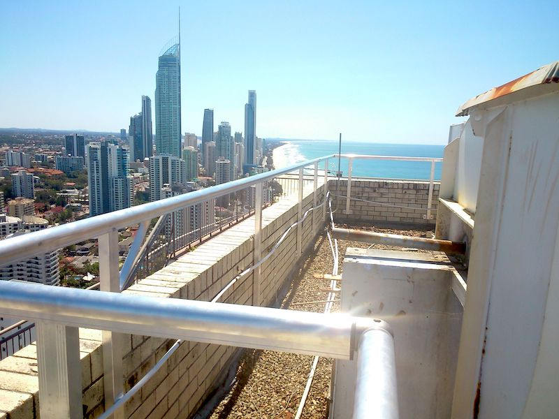 Roof Guard Rail Safe At Heights