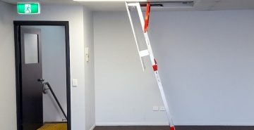 Fold Down Ladders Safe At Heights Queensland VISTA side view